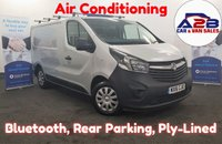 2016 VAUXHALL VIVARO 1.6 2700 CDTI ECOFLEX  Air Con, Bluetooth, Aux/USB, Fully Ply-Lined £7980.00