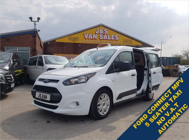 USED 2017 17 FORD TRANSIT CONNECT MINIBUS VAN MPV TAXI WHEEL CHAIR  NO VAT AUTOMATIC TAXI CAB MINIBUS CONNECT NO VAT