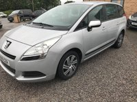 USED 2010 10 PEUGEOT 5008 1.6 VTi Active 5dr 7 Seater