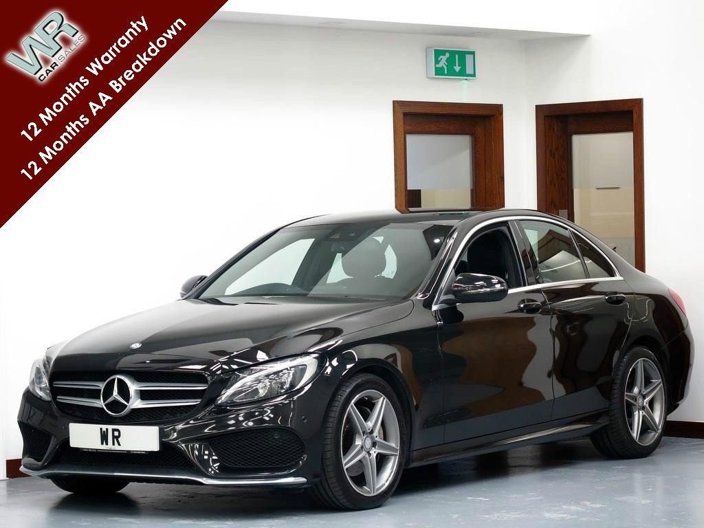 USED 2016 16 MERCEDES-BENZ C CLASS 2.1 C220d AMG Line (s/s) 4dr R/CAMERA  + HEATED LEATHER