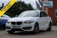 USED 2016 65 BMW 2 SERIES 1.5 218I SPORT 2d 134 BHP SATELLITE NAVIGATION + FINANCE AVAILABLE