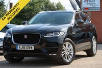 USED 2016 16 JAGUAR F-PACE 2.0 PORTFOLIO AWD 5d AUTO 178 BHP PANORAMIC ROOF, NAVIGATION + FULL LEATHER INTERIOR