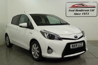 USED 2014 14 TOYOTA YARIS 1.5 HYBRID ICON PLUS 5d AUTO 61 BHP Fantastic Toyota Aygo at a great price. Extremely reliability and solid build quality are the norm with Toyotas and the Aygo is no exception. It wont hang around long so get on that 'phone before its gone. 12 months MOT, and Fully serviced upon sale, Full service history, Excellent bodywork, Black Cloth interior - Excellent Condition, Tyre condition Excellent, Solid White. We offer ZERO deposit finance at competitive rates and we welcome your part exchange. To arrange a viewing or test drive sim