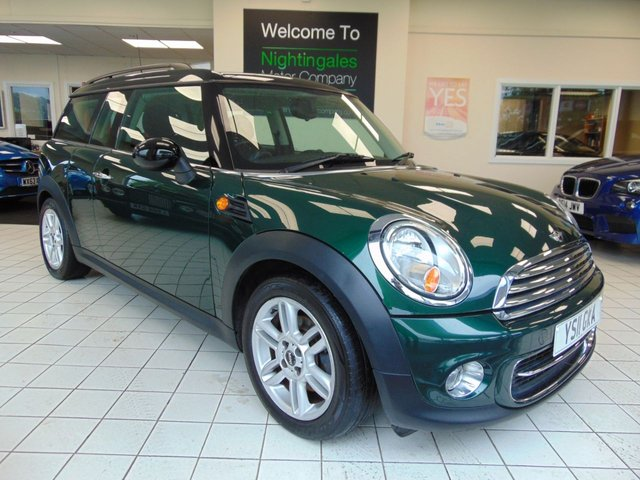 """USED 2011 11 MINI CLUBMAN 1.6 COOPER 5d 122 BHP JUNE 2020 MOT + SERVICE HISTORY + PEPPER PACK + 16"""" 6 STAR ALLOYS +  CD RADIO + ALLOYS + AIR CONDITIONING +  CENTRAL LOCKING + ISOFIX + ELECTRIC FRONT WINDOWS + ALARM + BRG METALLIC PAINT"""
