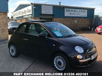 USED 2012 12 FIAT 500 0.9 LOUNGE 3d 85 BHP Sunroof Alloy Wheels  open 7 days a week alloy wheels remote locking sunroof 01536 402161 or find us on facebook