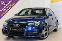 USED 2015 15 AUDI A3 1.4 TFSI S LINE 4d 148 BHP SAT NAV, CRUISE, BLACK STYLING PACK, FULL AUDI SERVICE HISTORY, PARKING SYSTEM FRONT AND REAR, ELEC FOLDING MIRRORS