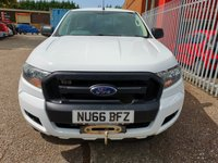 USED 2016 66 FORD RANGER 2.2 XL Single Cab 4x4 Pickup *HARD TOP + FRONT WINCH* AIR CON - WINCH - CARRY BOY HARD TOP