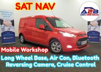 2015 FORD TRANSIT CONNECT 1.6 TDCi 240 LIMITED 115 BHP Long Wheel Base in Red with High Spec Including SAT NAV, Air Conditioning, Mobile Workshop, Reversing Camera, Cruise Control, Bluetooth and much more £8980.00