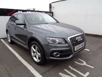 USED 2009 09 AUDI Q5 2.0 TDI QUATTRO DPF S LINE 5d 168 BHP £198 A MONTH FULL LEATHER CAMBELT AND WATER PUMP DONE SATELLITE NAVIGATION BLUETOOTH PRESTIGE ALL WHEEL DRIVE MOTORING FULL SERVICE HISTORY