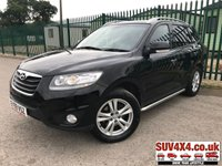 USED 2010 59 HYUNDAI SANTA FE 2.2 STYLE CRDI 5d 194 BHP 7 SEATER MOT 02/20 4WD. BLACK MET WITH FULL BLACK LEATHER TRIM. HEATED SEATS. CRUISE CONTROL. 18 INCH ALLOYS. COLOUR CODED TRIMS. AIR CON. TRIP COMPUTER. 5 SPEED MANUAL. MFSW. SERVICE HISTORY. AGE/MILEAGE RELATED SALE. USED CAR CENTRE LS23 7FQ. TEL 01937 849492 OPTION 1