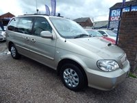 USED 2006 06 KIA SEDONA 2.9 L CRDI 5d 142 BHP 12 MONTHS MOT, GREAT VALUE, 7 SEATER