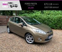 USED 2012 62 FORD FIESTA 1.2 ZETEC 3d 81 BHP 1 OWNER LOW MILES SERVICE HISTORY BLUETOOTH PHONE ALLOYS AIR CON