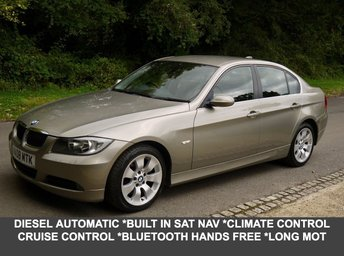 2008 BMW 3 SERIES 325D 3.0 SE Diesel Automatic Saloon In Platinum Bronze With Full Black Leather £4295.00