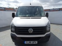 USED 2016 16 VOLKSWAGEN CRAFTER CR35 TDI 2.0 CR35 TDI H/R P/V 1d 135 BHP VOLKSWAGEN CRAFTER HIGH ROOF WITH FRONT SENSORS AND BLUETOOTH