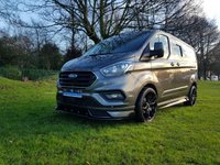 USED 2018 68 FORD TRANSIT CUSTOM 2.0 300 LIMITED DCB L1 AUTO 130 RS STYLING 6 SEAT CREW VAN REMOVABLE REAR FOLDING SEATS - AUTOMATIC -REAR CARPETED - FINANCE AVAILABLE