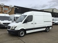 USED 2016 16 MERCEDES-BENZ SPRINTER 2.1 313CDI MWB HIGH ROOF 130BHP. 1 OWNER. F/S/H. FINANCE. PX 1 OWNER. F/S/H. FINANCE. 81K MLS. WARRANTY. PX POSS