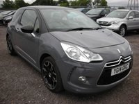 USED 2014 14 CITROEN DS3 1.6 DSTYLE PLUS 3d 120 BHP 1 Previous owner - Reverse parking sensors