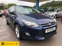 USED 2012 12 FORD FOCUS 1.6 ZETEC 5d 124 BHP NEED FINANCE? WE CAN HELP!
