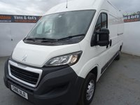 USED 2016 16 PEUGEOT BOXER 2.2 HDI 335 L3H2 PROFESSIONAL P/V 1d 130 BHP PEUGEOT BOXER L3 H2 SAT NAV AND AIRCON ..CRUISE CONTROL