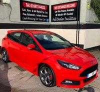 USED 2015 15 FORD FOCUS ST-3 2.0 TDCI 5DR 185 BHP, SAT NAV, ONLY £20 ROAD TAX. STYLE PACK, REAR SENSORS & CRUISE CONTROL.