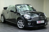 """USED 2011 11 MINI CONVERTIBLE 1.6 ONE 2d 98 BHP 15""""ALLOYS+PARKING SENSOR+AIR CON+TINTED GLASS"""