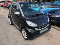 USED 2009 59 SMART FORTWO 1.0 PASSION MHD 2d AUTO 71 BHP IDEAL TOWN CAR, £20 PER YEAR ROAD TAX, SUPPLIED WITH A NEW MOT