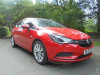 USED 2016 66 VAUXHALL ASTRA 1.4 DESIGN 5d 123 BHP FULL SERVICE HISTORY