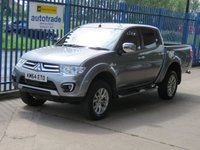 USED 2014 64 MITSUBISHI L200 2.5 DI-D 4X4 BARBARIAN LB DCB 1d Auto Sat nav Leather Rear camera Heated seats PLUS VAT Finance arranged Part exchange available Open 7 days