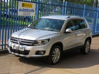 2011 VOLKSWAGEN TIGUAN 2.0 SPORT TDI BLUEMOTION TECHNOLOGY 4MOTION DAB Bluetooth Privacy £7500.00