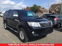 USED 2015 15 TOYOTA HI-LUX 3.0 INVINCIBLE 4X4 D-4D 5 Seat Double Cab Lifestyle Pickup AUTO with Rear Canopy Load Liner Side Steps Roof Bars Sat Nav Rear Camera and much more inc Full Service History THE PERFECT DOUBLE CAB PICK UP