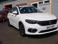 """USED 2017 17 FIAT TIPO 1.6 MULTIJET LOUNGE 5d 118 BHP 17"""" Alloys, Fiat U connect with touchscreen media and Sat Nav, Bluetooth, Parking Sensors"""