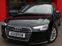 USED 2016 16 AUDI A4 AVANT 2.0 TDI ULTRA SE 5d 150 S/S 1 OWNER FROM NEW, FULL SERVICE HISTORY, £20 ROAD TAX (104 G/KM), AUDI SMART PHONE WITH APPLE CAR PLAY & ANDROID AUTO GIVING YOU THE OPTION OF GOOGLE MAPS SAT NAV, DAB RADIO, CRUISE CONTROL WITH SPEED LIMITER, LED DAYTIME RUNNING LIGHTS, XENON HEADLIGHTS, BLUETOOTH PHONE & MUSIC STREAMING, REAR PARKING SENSORS, 17 INCH ALLOYS, ELECTRIC TAILGATE, LEATHER MULTIFUNCTION STEERING WHEEL, LIGHT & RAIN SENSORS, AUDI DRIVE SELECT, 3 ZONE CLIMATE CONTROL, KEYLESS START, WIFI, AUX INPUT, 2x USB PORTS, VATQ