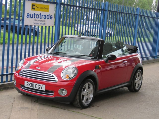 USED 2010 10 MINI CONVERTIBLE 1.6 COOPER 2dr 1/2 Leather Alloys Rear park Convertible with Half leather