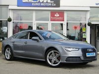 USED 2018 18 AUDI A7 3.0 SPORTBACK TDI ULTRA SE EXECUTIVE 5d AUTO 215 BHP STUNNING, LOW MILEAGE, AUDI A7 3.0TDI SPORTBACK ULTRA SE EXECUTIVE, 215 BHP. Finished in TORNADO GREY Metallic with contrasting Full EBONY HEATED LEATHER. This attractive looking 5 door coupe is a pleasure to drive. Easy to drive, spacious and practical as a sporty family car. Features include Full heated Leather, Upgraded Sat Nav, Power Boot, Bose, Heads Up Display, LED Day run lights, Active Rear Spoiler and much more.