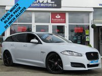 USED 2015 15 JAGUAR XF 2.2 D R-SPORT BLACK SPORTBRAKE 5d AUTO 200 BHP STUNNING, FSH, JAGUAR XF 2.2D R-SPORT BLACK, SPORTBRAKE (ESTATE), AUTO. Finished in  with contrasting EBONY HEATED LEATHER trim. This SPECIAL EDITION XF estate stands out from the competition with its swooping, handsome looks. It is one of the best in its class for its drive, comfort, and practicallity. Features include Sat Nav, DAB, Heated Seats, B/Tooth and much more.