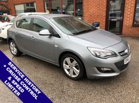 "USED 2013 63 VAUXHALL ASTRA 1.6 SRI 5DOOR AUTO 115 BHP AUX Socket   :   Cruise Control / Speed Limiter   :   Air Conditioning      Black Cloth Upholstery   :   17"" Alloy Wheels   :   Service History"