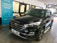 USED 2017 17 HYUNDAI TUCSON 2.0 CRDI PREMIUM SE BLUE DRIVE 5d 134 BHP One gentleman owner from new. Supplied with first service. Comes with a huge specification including Panoramic roof, dual zone climate, Sat Nav & Bluetooth. Finished in Phantom Black with Beige leather seats.