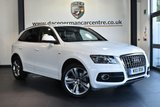"USED 2011 11 AUDI Q5 2.0 TDI QUATTRO S LINE SPECIAL EDITION 5DR 168 BHP * NO ADMIN FEES * FINISHED IN STUNNING WHITE WITH FULL BLACK LEATHER INTERIOR + CRUISE CONTROL + DAB RADIO + BANG&OLUFSEN SURROUND SOUND + HEATED MIRRORS + CLIMATE CONTROL + PARKING SENSORS + 20"" ALLOY WHEELS"
