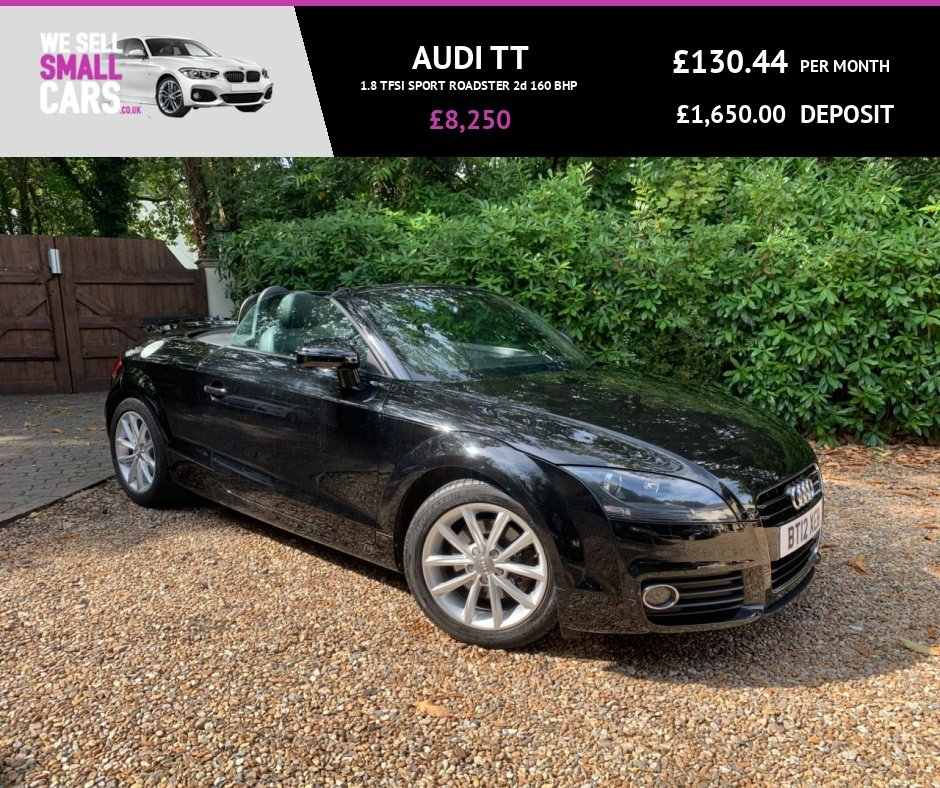 USED 2012 12 AUDI TT 1.8 TFSI SPORT ROADSTER 2d 160 BHP 2 OWNERS LOW MILES FULL SERVICE HALF SUEDE/LEATHER 17 INCH ALLOYS