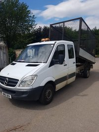 2010 MERCEDES-BENZ SPRINTER 2.1 310 CDI LWB DOUBLE CAB CAGED SIDE TIPPER £8995.00