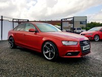 USED 2015 15 AUDI A4 2.0 TDI ULTRA SE TECHNIK 4d 161 BHP SUPER HOT VALCONO RED