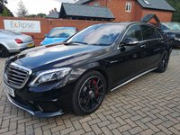 USED 2016 16 MERCEDES-BENZ S CLASS 5.5 AMG S 63 L EXECUTIVE 4d AUTO 577 BHP FSH+PAN ROOF+LEATHER+SAT NAV