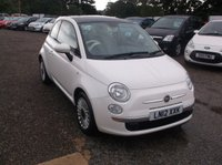 2012 FIAT 500 1.2 LOUNGE 3d 69 BHP £3995.00
