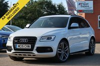 USED 2015 15 AUDI Q5 3.0 SQ5 TDI QUATTRO 5d AUTO 309 BHP NAVIGATION, FULL LEATHER + HEATED ELECTRIC FRONT SEATS