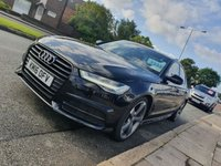 "USED 2016 16 AUDI A6 2.0 TDI ULTRA BLACK EDITION 4d AUTO 188 BHP LEATHER + REAR PRIVACY GLASS + 20"" ALLOYS"