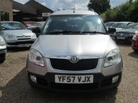 USED 2007 57 SKODA ROOMSTER 1.6 SCOUT 16V 5d 103 BHP VARIOFLEX INDIVIDUALLY REMOVEABLE REAR SEATS