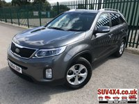 USED 2014 64 KIA SORENTO 2.2 CRDI KX-2 5d 194 BHP 7 SEATER LEATHER ONE OWNER FSH FACELIFT 4WD. 7 SEATER. STUNNING SILVER MET WITH FULL BLACK LEATHER TRIM. HEATED SEATS. CRUISE CONTROL. 17 INCH ALLOYS. COLOUR CODED TRIMS. PRIVACY GLASS. PARKING SENSORS. REVERSE CAM. BLUETOOTH PREP. CLIMATE CONTROL INCLUDING AIR CON. TRIP COMPUTER. R/CD PLAYER. MFSW. ROOF BARS. MOT 08/20. ONE OWNER. FULL SERVICE HISTORY. SUV & 4X4 CAR CENTRE LS23 7FR. TEL 01937 849492 OPTION 2