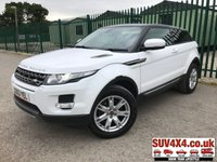 USED 2013 63 LAND ROVER RANGE ROVER EVOQUE 2.2 SD4 PURE TECH 3d AUTO 190 BHP PANROOF SATNAV LEATHER PRIVACY FSH 4WD. PANORAMIC SUNROOF. SATELLITE NAVIGATION. STUNNING WHITE WITH BLACK LEATHER TRIM. ELECTRIC HEATED SEATS. CRUISE CONTROL. 18 INCH ALLOYS. COLOUR CODED TRIMS. PRIVACY GLASS. PARKING SENSORS. BLUETOOTH PREP. CLIMATE CONTROL INCLUDING AIR CON. MULTIMEDIA SYSTEM. R/CD/DAB RADIO. AUTO GEARBOX. MFSW. MOT 08/20. ONE PREV OWNER. SERVICE HISTORY. SUV & 4X4 CAR CENTRE LS23 7FR. TEL 01937 849492. OPTION 2