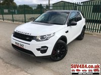 USED 2015 15 LAND ROVER DISCOVERY SPORT 2.2 SD4 SE TECH 5d 190 BHP 7 SEATER SATNAV LEATHER ONE OWNER FSH 7 SEATER. SATELLITE NAVIGATION. BLACK ROOF. BLACK 18 INCH ALLOYS. BLACK CLOUR CODED TRIMS. STUNNING WHITE WITH BLACK LEATHER TRIM. HEATED SEATS. CRUISE CONTROL. PRIVACY GLASS. PARKING SENSORS. ELECTRIC TAILGATE. BLUETOOTH PREP. CLIMATE CONTROL INCLUDING AIR CON. MULTIMEDIA SYSTEM. R/CD/DAB RADIO. 6 SPEED MANUAL. MFSW. MOT 05/20. ONE OWNER FROM NEW. SERVICE HISTORY. SUV & 4X4 CAR CENTRE LS23 7FR. TEL 01937 849492. OPTION 2