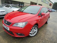 USED 2015 15 SEAT IBIZA 1.4 TOCA 3d 85 BHP Excellent Condition, FSH, No Deposit Necessary, No Final Payment